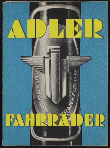 Adler Faltblatt 1937