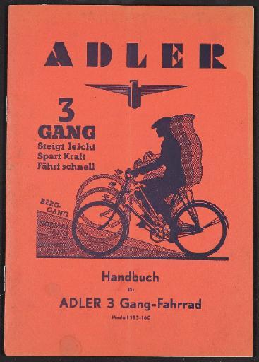 Adler, Dreigang-Getriebe, Beschreibung 1939