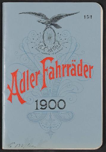 Adler, Katalog 1900