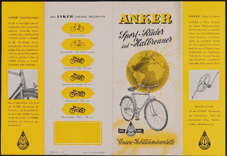 Anker Faltblatt 1951
