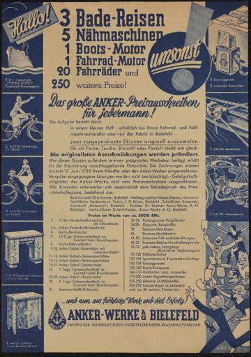 Anker Preisausschreiben 1935
