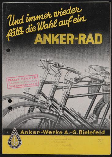 Anker Prospekt 1934