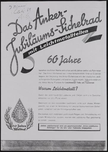Anker Prospekt 1936