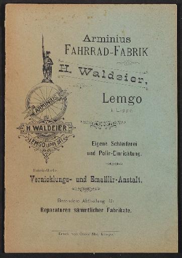 Arminius Fahrrad-Fabrik, Katalog, vor 1900