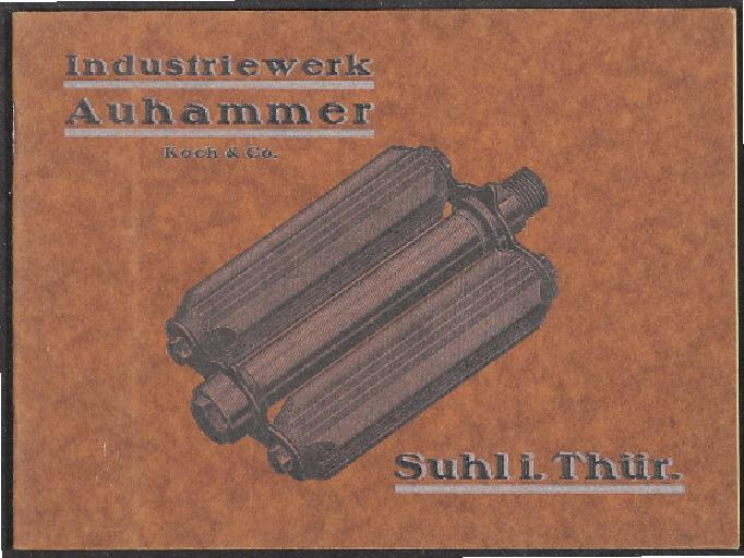 Auhammer Pedale Katalog 1920er Jahre