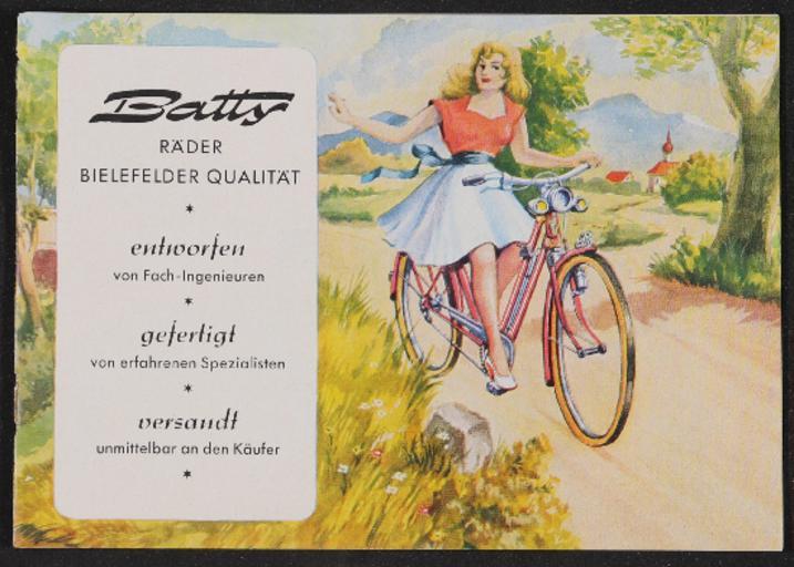 Batty Räder Katalog, Zubehör, Bestellung 1953