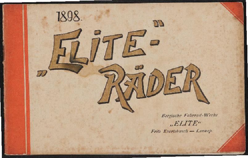 Elite-Räder Katalog  1898