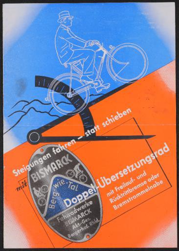 Bismarck Berg wie Tal Faltblatt 1936