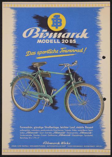 Bismarck Modell BS Werbeblatt 1950er jahre