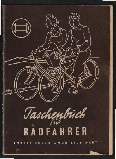 Bosch Radlicht Taschenbuch für Radfahrer 1950