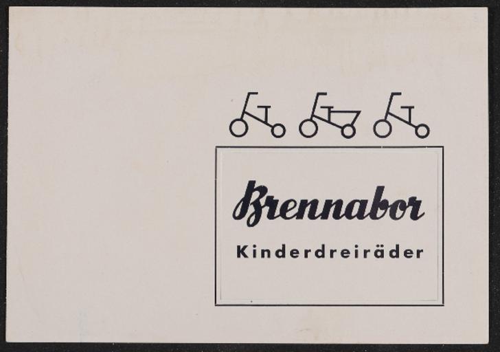 Brennabor Kinderdreiräder Prospekt 1938