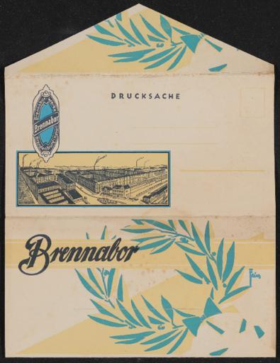 Brennabor Prospekt Faltblatt 1930er Jahre