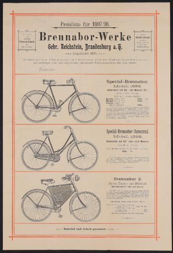 Brennabor-Werke Preisliste 1897