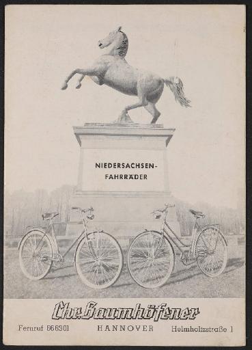 Niedersachsen-Fahrräder Katalog 1960er Jahre