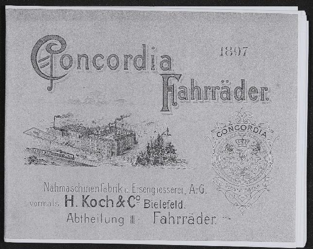 Concordia Fahrräder Katalog Kopie 1897