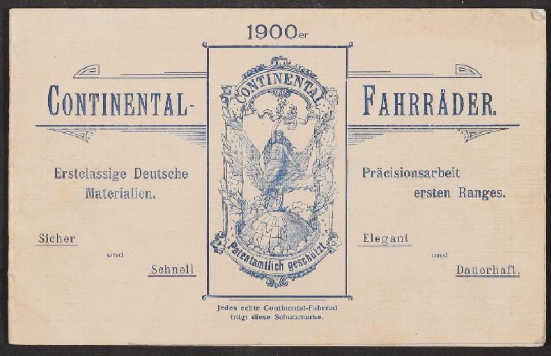 Continental Fahrräder, Katalog 1900