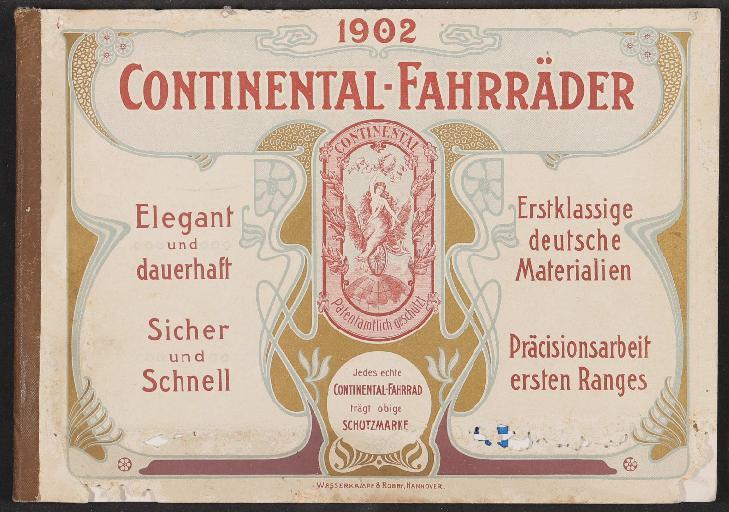 Continental Fahrräder, Katalog 1902