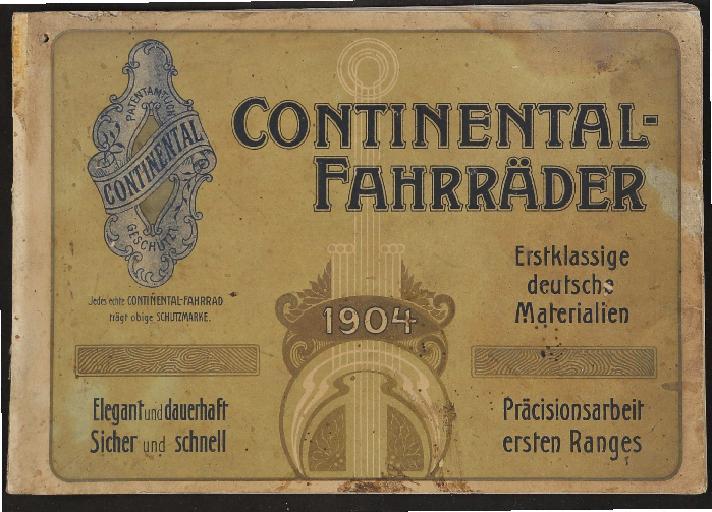 Continental-Fahrräder Katalog 1904
