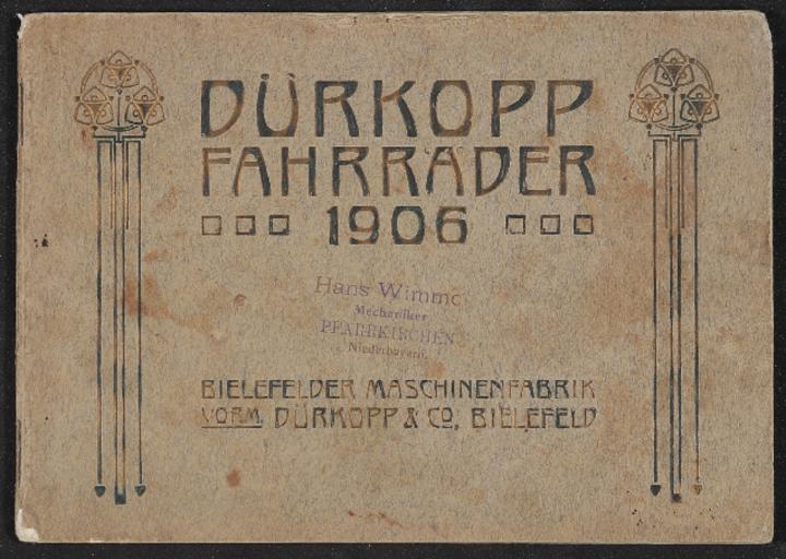 Dürkopp Fahrräder Katalog 1906