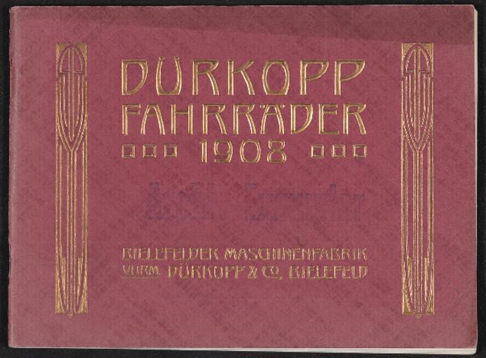Dürkopp Fahrräder Katalog 1908