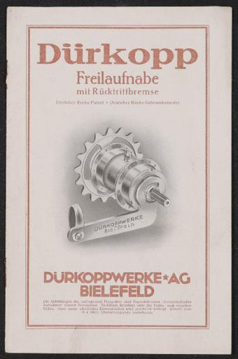 Dürkopp Freilaufnabe mit Rücktrittbremse 1930er Jahre