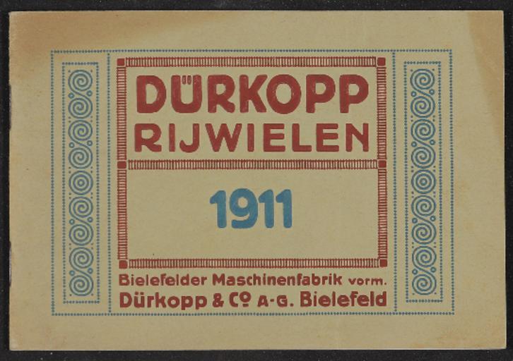 Dürkopp Rijwielen Geillustreerde Catalogus 1911