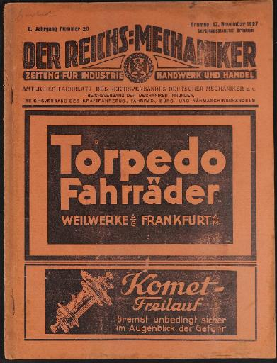 Der Reichsmechaniker Zeitung 19. November 1927