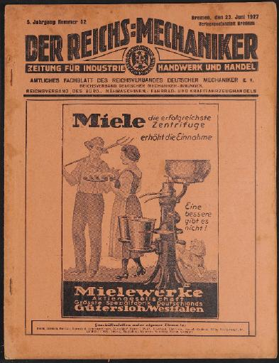 Der Reichsmechaniker Zeitung 23. Juni 1927