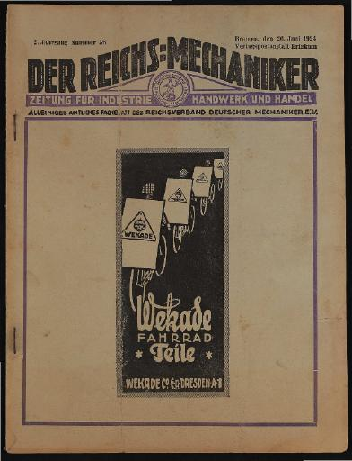 Der Reichsmechaniker Zeitung 26. Juni 1924