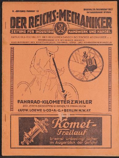 Der Reichsmechaniker Zeitung 29. September 1927