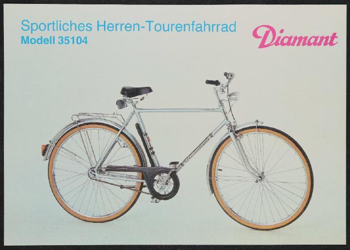 Diamant Fahrräder und Rennräder Datenblatt Sammlung 1988