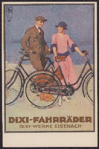 Dixi-Fahrräder Postkarte 1920er Jahre, unbeschrieben