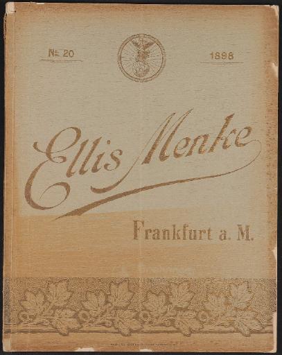 E. Menke, Fahrradtheile u. Ausstattung, Katalog 1898