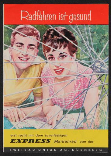Express Markenrad Faltblatt 1960er Jahre