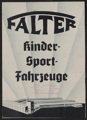 Falter Kinder-Sport-Fahrzeuge 1930er Jahre