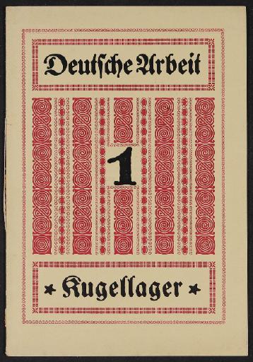 Fichtel u. Sachs Broschüre zur Kugellagergeschichte 1930er Jahre