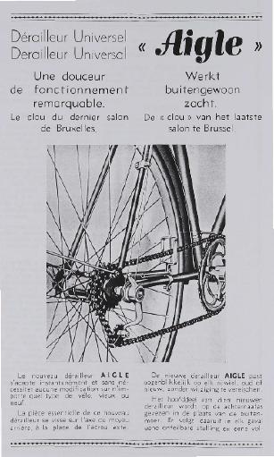 Fichtel u. Sachs Derailleur Universal (NL) Derailleur Universel (F) Infoschrift (Kopie) 1960er Jahre