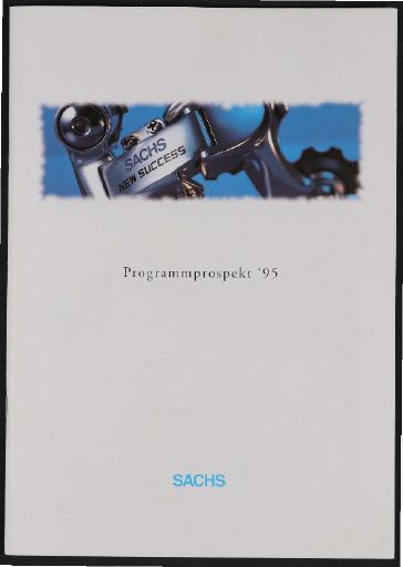 Sachs Programmprospekt 1995