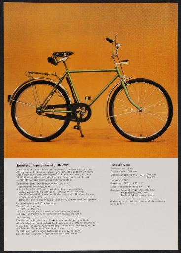 Fortschritt Sportliches Jugendfahrrad Junior Werbeblatt 1985
