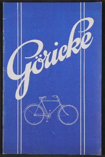 Göricke Katalog mehrsprachig 1928
