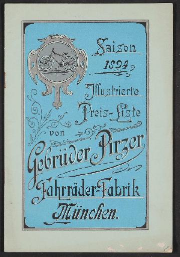 Gebrüder Pirzer Fahrräder-Fabrik,Katalog 1894