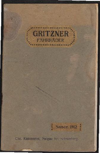 Gritzner Fahrräder Katalog 1912