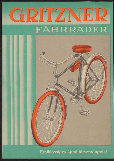 Gritzner Fahrräder Werbeblatt 1930er Jahre