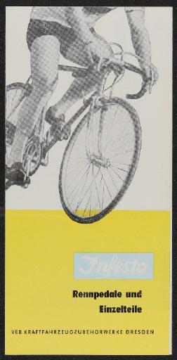 Infesto Rennpedale und Einzelteile Faltblatt 1962