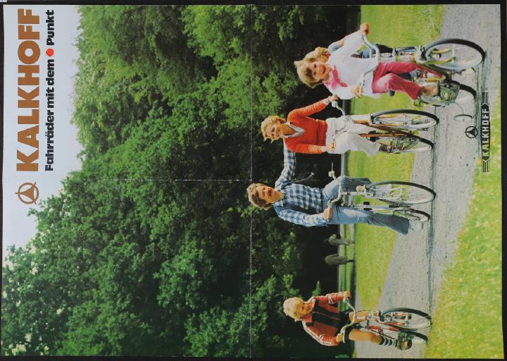 Kalkhoff Fahrräder Plakatprospekt 1978