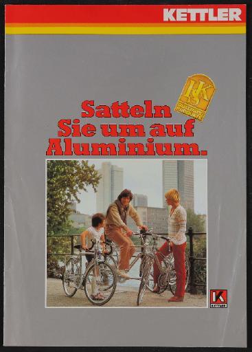 Kettler Alu-Rad Prospekt 1980er Jahre