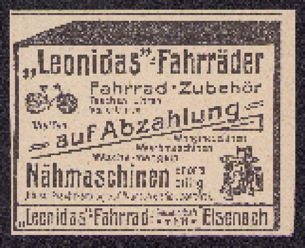 Leonidas Fahrräder Werbung 1907
