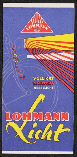 Lohmann Licht Vollicht Nahlicht Nebellicht Prospekt 50er Jahre