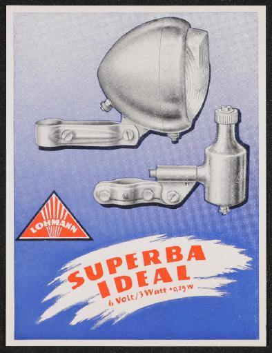 Lohmann Superba Ideal Werbeblatt 50er Jahre