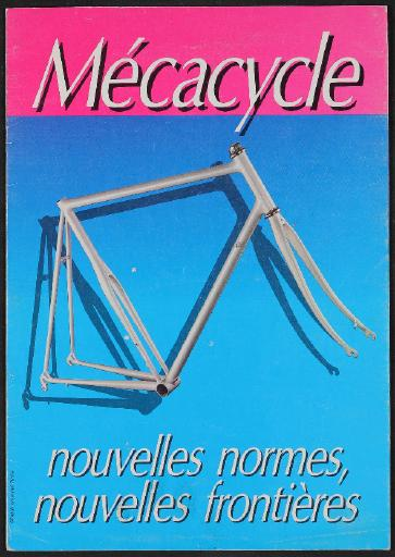 Mecacycle (F), Geteiltes Sitzrohr, Faltblatt 1980er Jahre